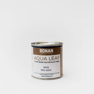 Ronan Aqua Leaf Faux Metallic Water Based enamel