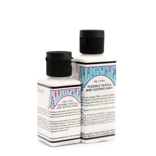 AlphaFlex – WHITE - Flexible textile and leather paint