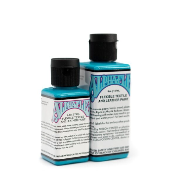AlphaFlex – TURQUOISE - Flexible textile and leather paint