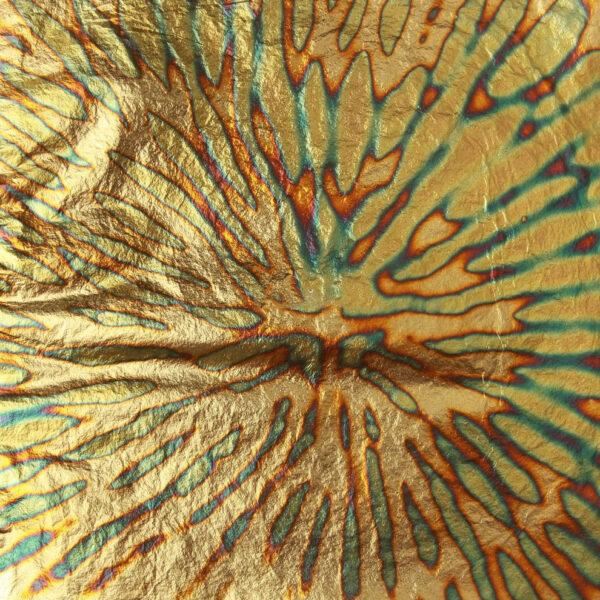 Blue/Green variegated Chrysanthemum transfer leaf book